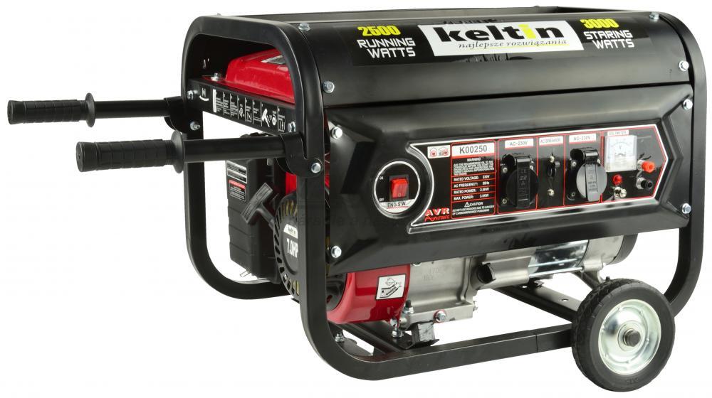 Elektrocentrála 230 V, výkon 2.500 W/230 V, motor 208 cm3, 40 kg, KELTIN