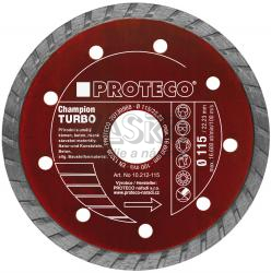 Kotúč diamantový TURBO CHAMPION 150 mm, celistvý segment,, PROTECO